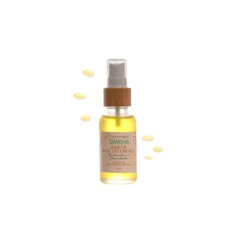Stimulating anti breakage hair oil
