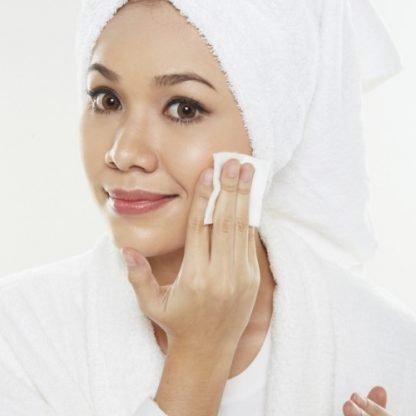 demaquiller visage lotion tonique lingette reutilisable