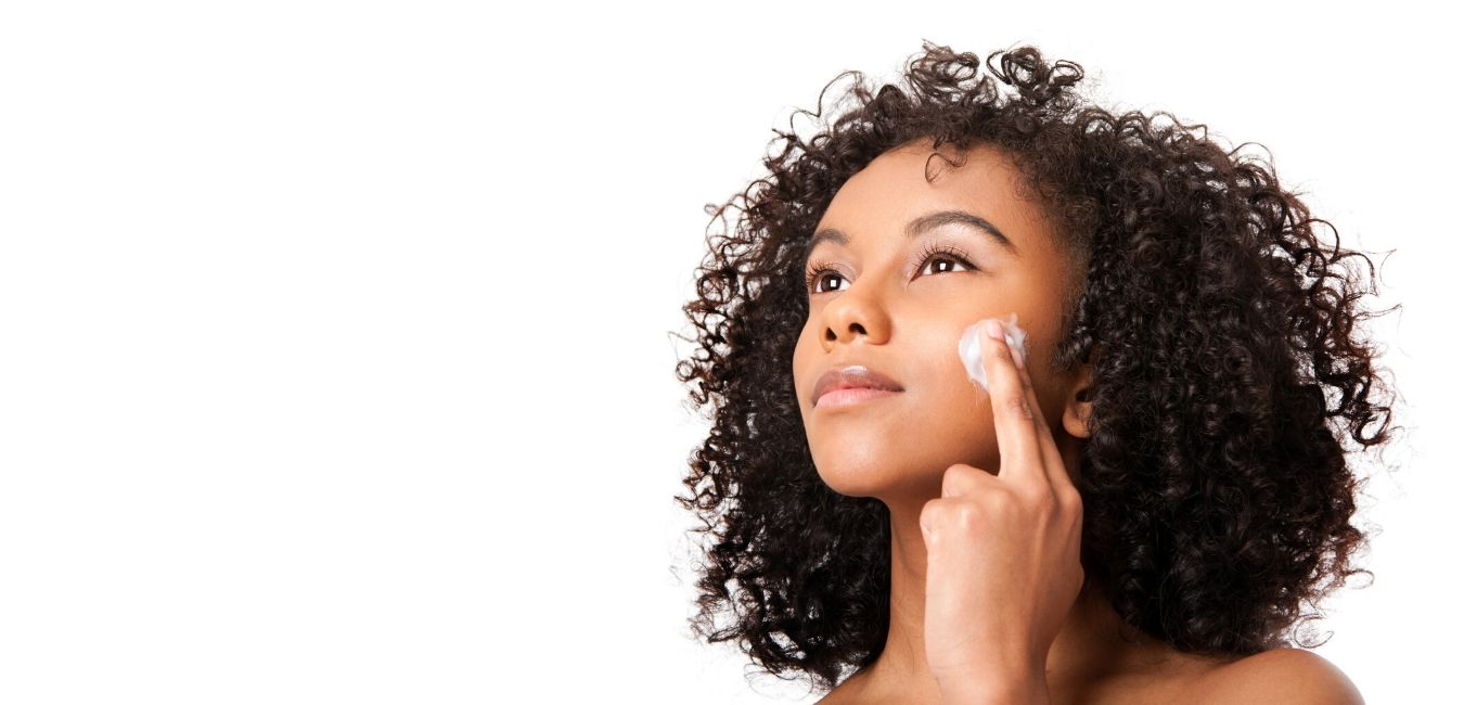 woman organic vegan cosmetics skincare products