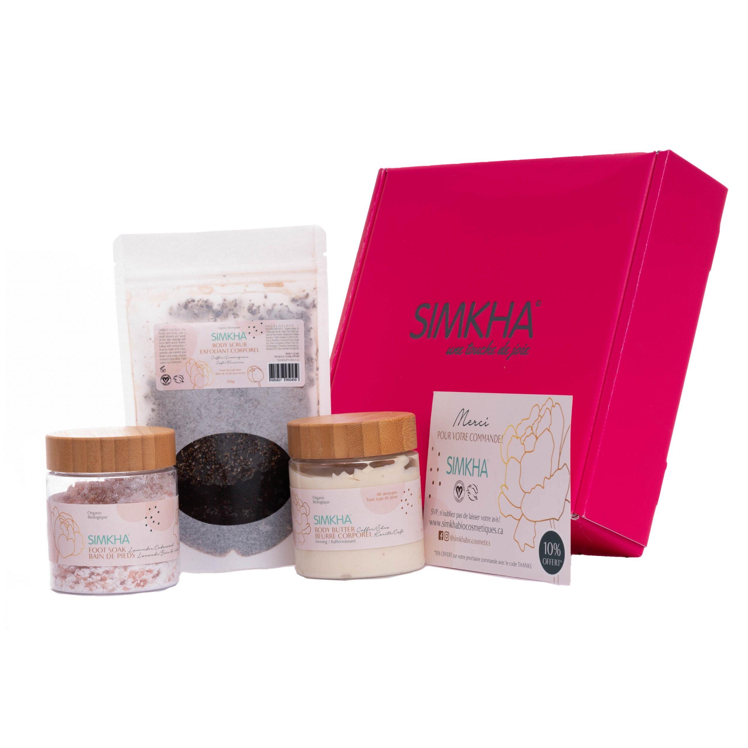 Coffret cadeau pour femme produits pour le bain Caféine