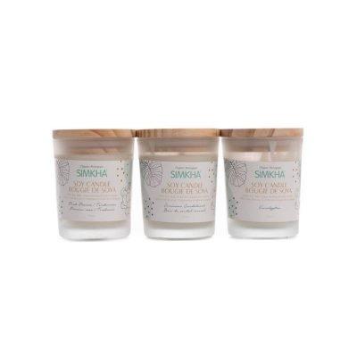 Coffret bougies parfumées chandelles de soya