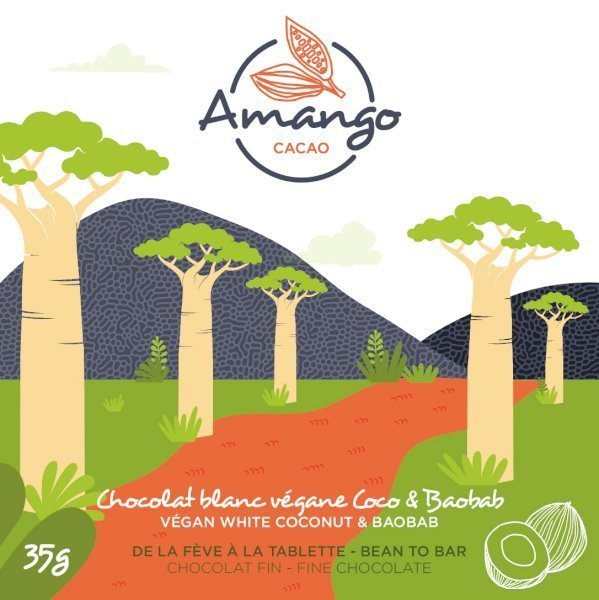 chocolat noir amango cacao coco baobab