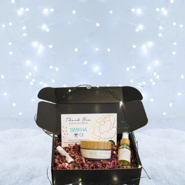 un coffret cadeau ado fille à offrir pour Noel, ou autre occasion avec des produits bio, vegan et québécois de Simkha