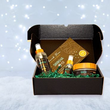 Simkha beard gift box in a black gift box
