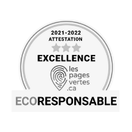 certified ecoresponsible by The Green Pages